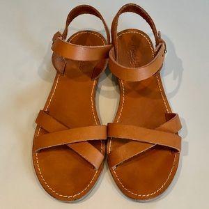 Madewell Boardwalk CrissCross Leather Sandals
